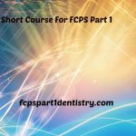 Possible Short Course Pattern for New Students of FCPS Part 1