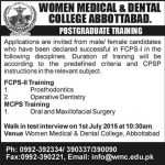 Postgradute Training Programe by Women Medical and Dental College