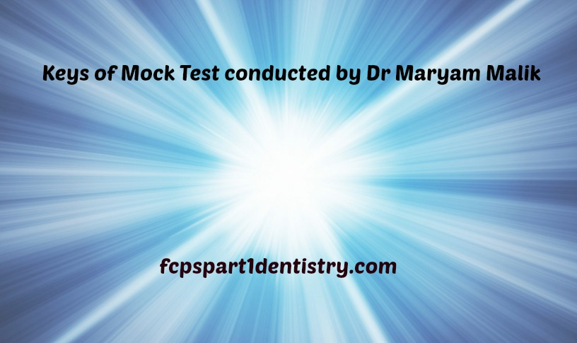 Mock test by Maryam