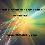 Errata of Chandkian Sixth Edition MCQ Book Surgery & Medicine