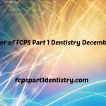 Past Paper of FCPS Part 1 Dentistry Online December 2014