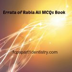 Rabia Ali Third Edition Errata of FCPS Part 1