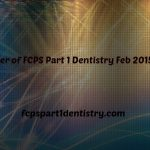 Past Paper of FCPS Part 1 Dentistry February 2015 B