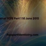 Past Paper of FCPS Part 1 Dentistry 10 June 2015