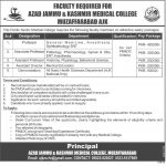 Faculty required for Azad Jammu & Kashmir Medical College Muzaffarabad AJK
