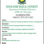 CME at Jinnah Sindh Medical University