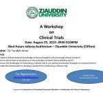 Workshop on Clinical Trial at Ziauddin University
