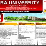 Post Graduation and Under Graduation at ISRA University Karachi & Hyderabad