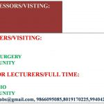 Professors Senior Lecturers and Readers Required for Dental College India
