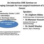 CME on Non Surgical Treatment of Liver Cancer