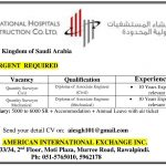 Staff Needed at International Hospital Construction Co.Ltd