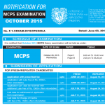 Date for MCPS Exam for 2015