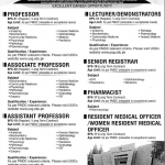 Career Opportunity at Nawaz Sharif Medical College
