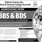MBBS & BDS at Baharia University Medical and Dental College Karachi