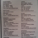 Phone Numbers and Addresses of CPSP