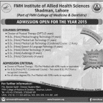 FMH Institute of Allied Health Sciences Admissions