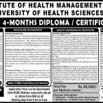 Admissions in Diploma Certificates Courses Health Care Management Health Services Management