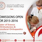 Masters of Science in Orthodontics and Dentofacial Orthopaedics in Dubai 2015-2016