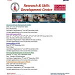 Skills Development Courses in December 2015 at Research & Skills Development Centre