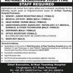 Medical Staff Required at Al Razi Teaching Hospital 2016