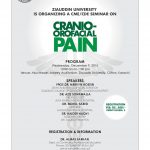 CME CDE Seminar on Carnio-Orofacial Pain