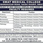 Medical Faculty Required at Swat Medical College