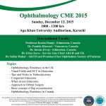 Ophthalmology CME at Aga Khan University 2015