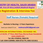 Staff Nurses Required at Saudi Arabia