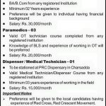 Medical Officers&Receptionist Required For -Pakistan Red Crescent Society -Peshawar