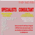 Medical Specialist and Consultant Required at DR SULAIMAN AL HABIB MEDICAL GROUP – RIYADH KINGDOM OF SAUDI ARABIA
