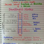 Notes on Esophagus and Trachea by Sea Shell