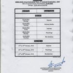 Date Sheet of MBBS 1st Year and BDS 1st Year Bollan Medical College Quetta – 2015