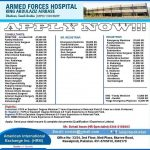 Consultants, Senior Registrars and Registrars are required for Armed Forces Hospital Saudi Arabia