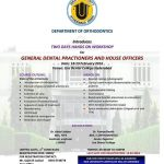 Two Days Hands on Workshop for General Dental Practitioner and House officers 2016