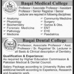 Faculty Required at Baqai Medical University