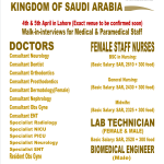 Dental,Medical and Paramedical Jobs at Saudi Arabia
