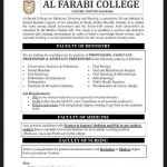 Faculty of Dentistry and Medicine Required at Al Farabi College for Medicine, Dentistry and Nursing Saudi Arabia