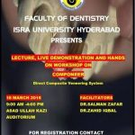 Lecture, Live Demonstration and Hands on Workshop on Componeer at Isra University Hyderabad March 2016