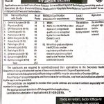 Medical Jobs at Divisional/District Headquarters hospitals of Balochistan 2016
