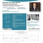 Modern Concepts in Endodontic Treatment Friday 15th April 2016 Royal Rose Hotel, Abu Dhabi
