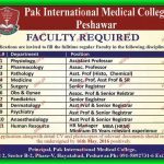 Medical Faculty Required at Pak International Medical College Peshawar 2016