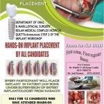 Hands On Dental Implant Placement by Department of Oral and Maxillofacial Surgery BMCH Quetta