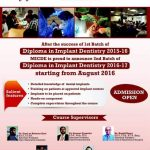 Diploma in Implant Dentistry 2016-17 2nd Batch by MICDE