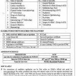 Fellowship Training Program by Post Graduate Medical Institute Peshawar for the Session of July 2016