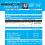Last Date of Forms Submission for FCPS Part 1 October 2016