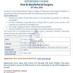 Refresher Course by CPSP for Oral and Maxillofacial Surgery 23 May 2016