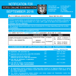 Last Date to Submit forms for FCPS Part 1 September 2016 attempt