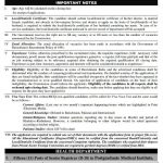 Posts of Senior Registrar, Assistant Professor, Medical Officers, Lady Medical Officers, Dental Surgeons and Pharmacist/Drug Analyst in Balochistan Public Service Commission 2016