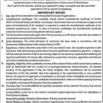 Assistant Professor, Senior Registrar, Physiotherapist, Medical Officer, Lady Medical Officer and Dental Surgeons required by Balochistan Public Service Commission 2017