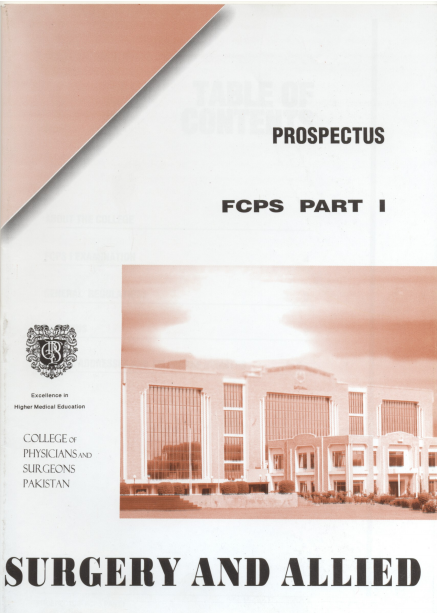 Prospectus of FCPS Part 1 Surgery and Allied